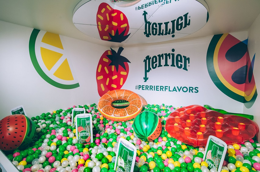 Perrier appeals to multisensory experience-seeking consumers with interactive branding