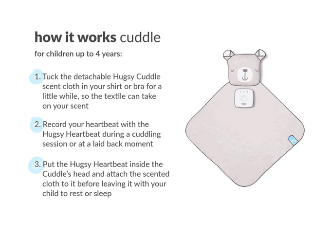 Hugsy: bonding with warmth, heartbeat & scent