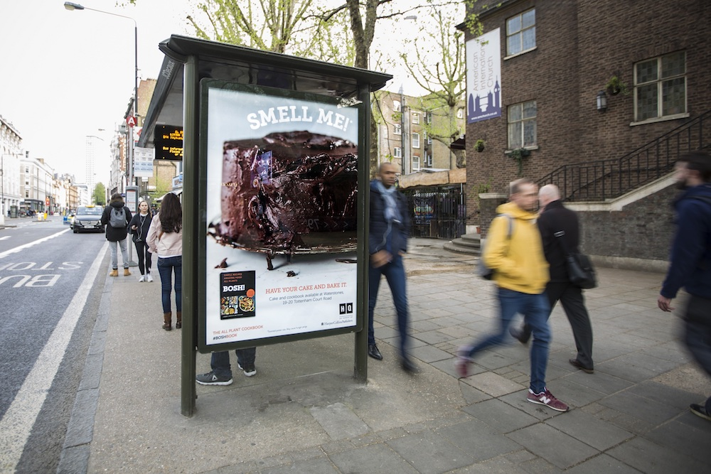 This Scented Bus Stop Ad Teases A Vegan Cookbook