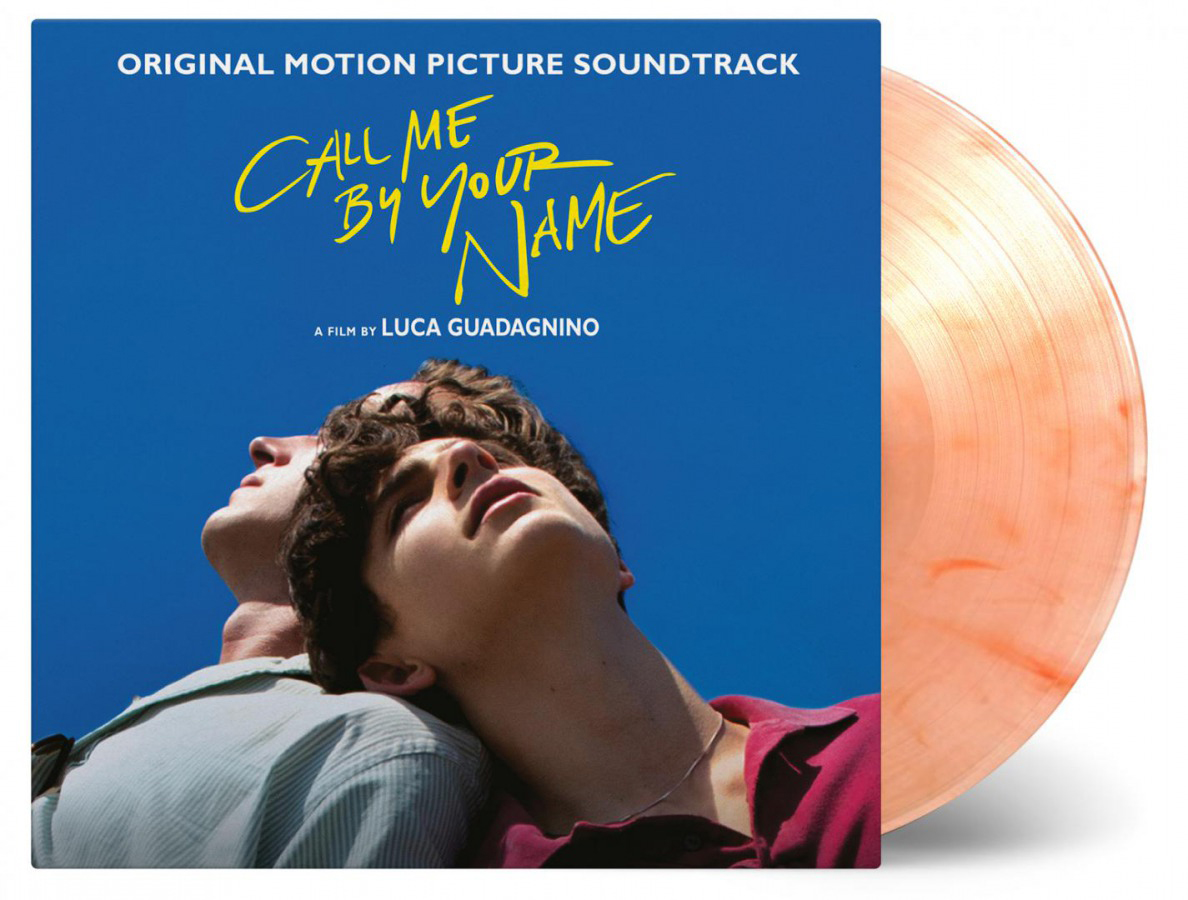 The Call Me By Your Name soundtrack on peach vinyl.