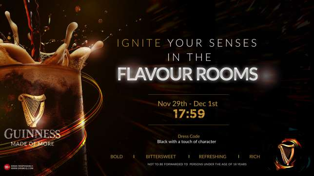 Get ready for 3 extraordinary multisensory nights at Guinness Flavour Rooms | Pulse.ng