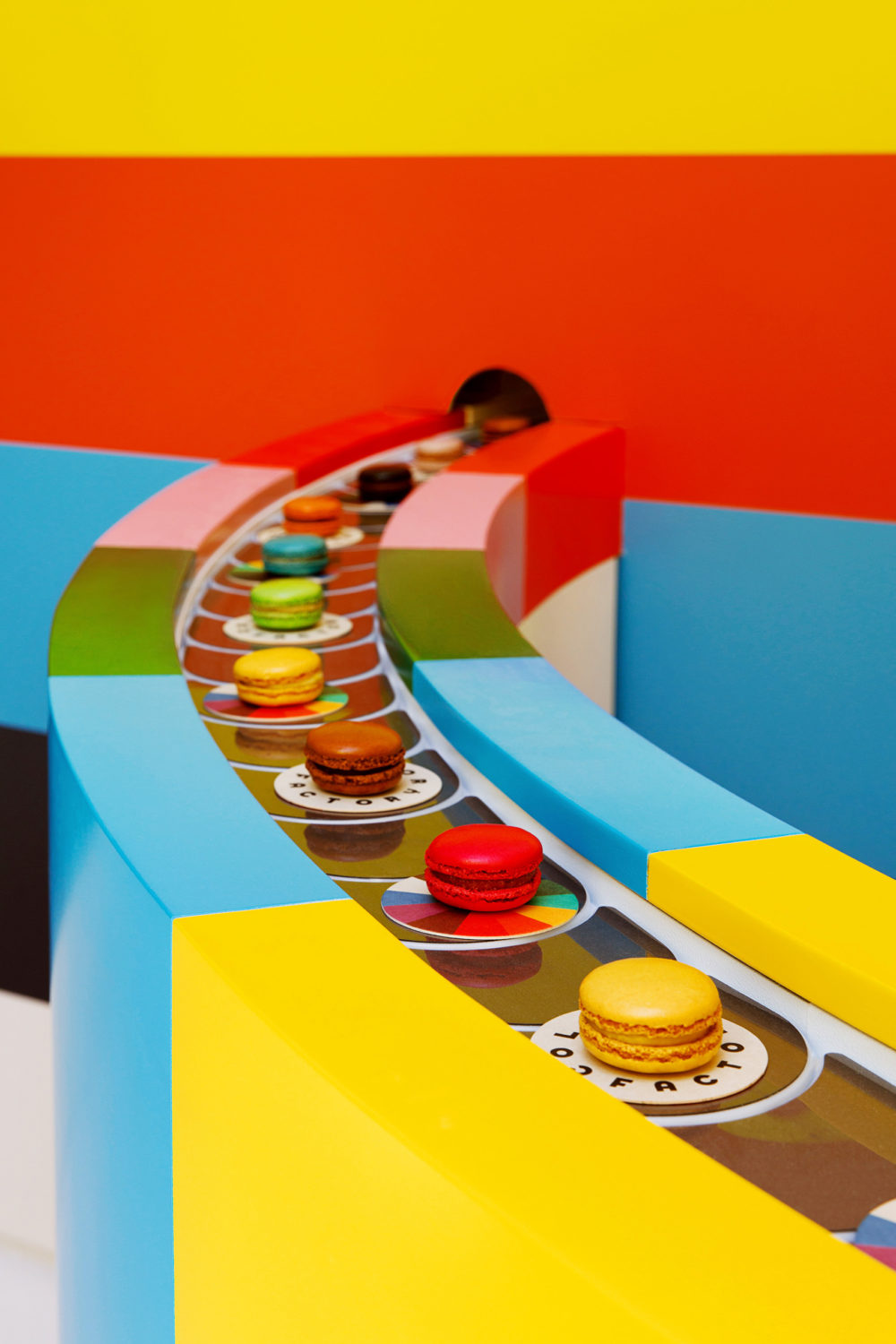 The Willy Wonka-like carousel of macaroons inside the Color Factory. (Courtesy of the Color Factory)