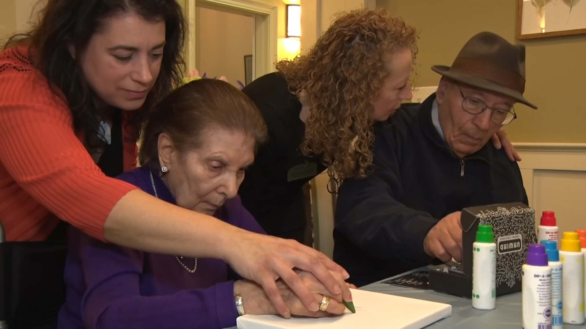 Art therapy helps dementia patients communicate and connect | Video | NJTV News