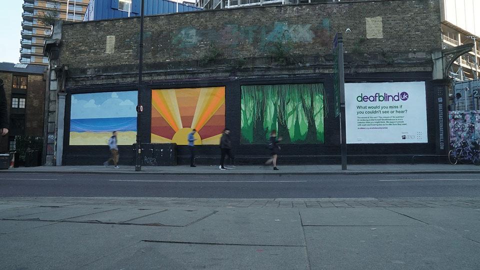 Deafblind UK unveils multisensory mural | AOP