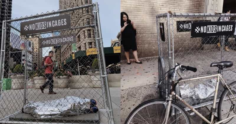 Art Installations Popped Up All Over New York City To Remind People That Children Are In Cages In The US And It's Not Normal   Wearemitu