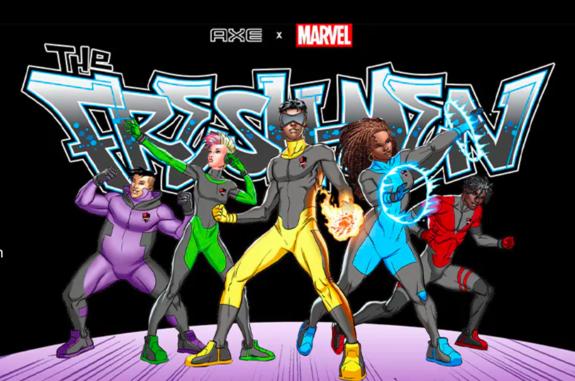 AXE Sprays Its Creative Scent On MARVEL for 'Fresh' New Superheroes | Newsarama