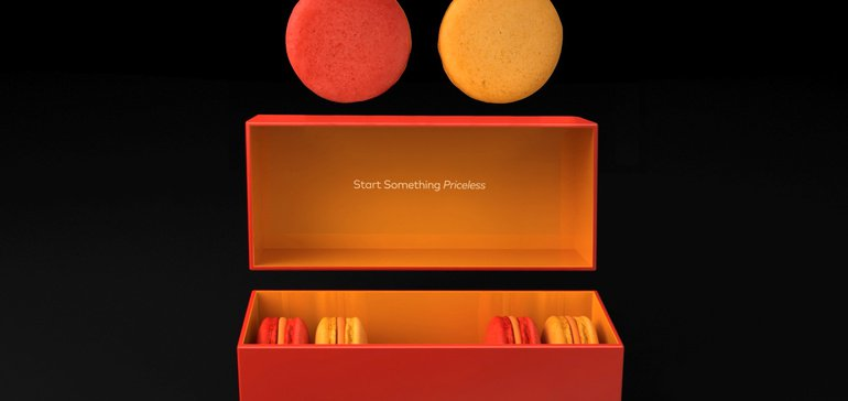 Mastercard adds taste to brand's positioning with custom macarons | Marketing Dive