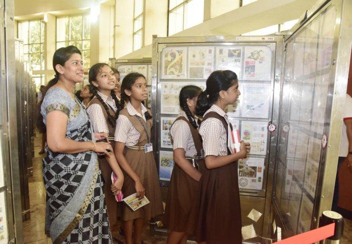 Scinde Dawk, gold-embossed, scented stamps displayed | Deccan Herald