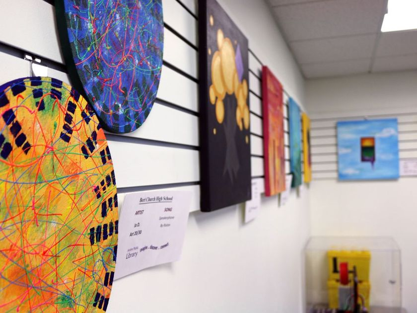 The Art of Noise, unique pieces that express the student's colour experiences through their favorite songs | Goderich Signal Star