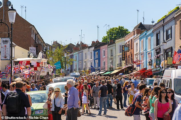 In London travellers love hearing the call of market traders on Portobello Road, pictured