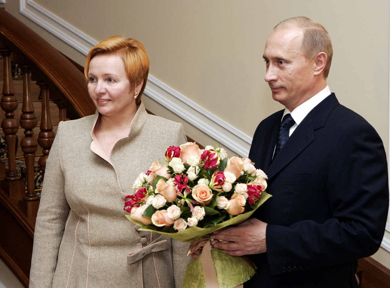 Russian President Vladimir Putin with his wife Lyudmila