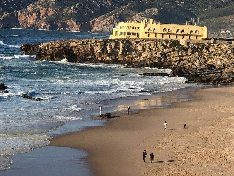Praia do Guincho beach in Portugal.