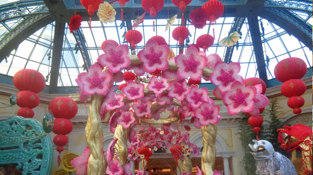 Flower Display in the Bellagio Conservatory