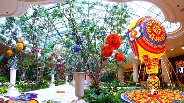 Flower Display in the Wynn Las Vegas