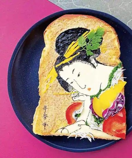 Food artists using slices of bread as their canvas! | Hindustan Times