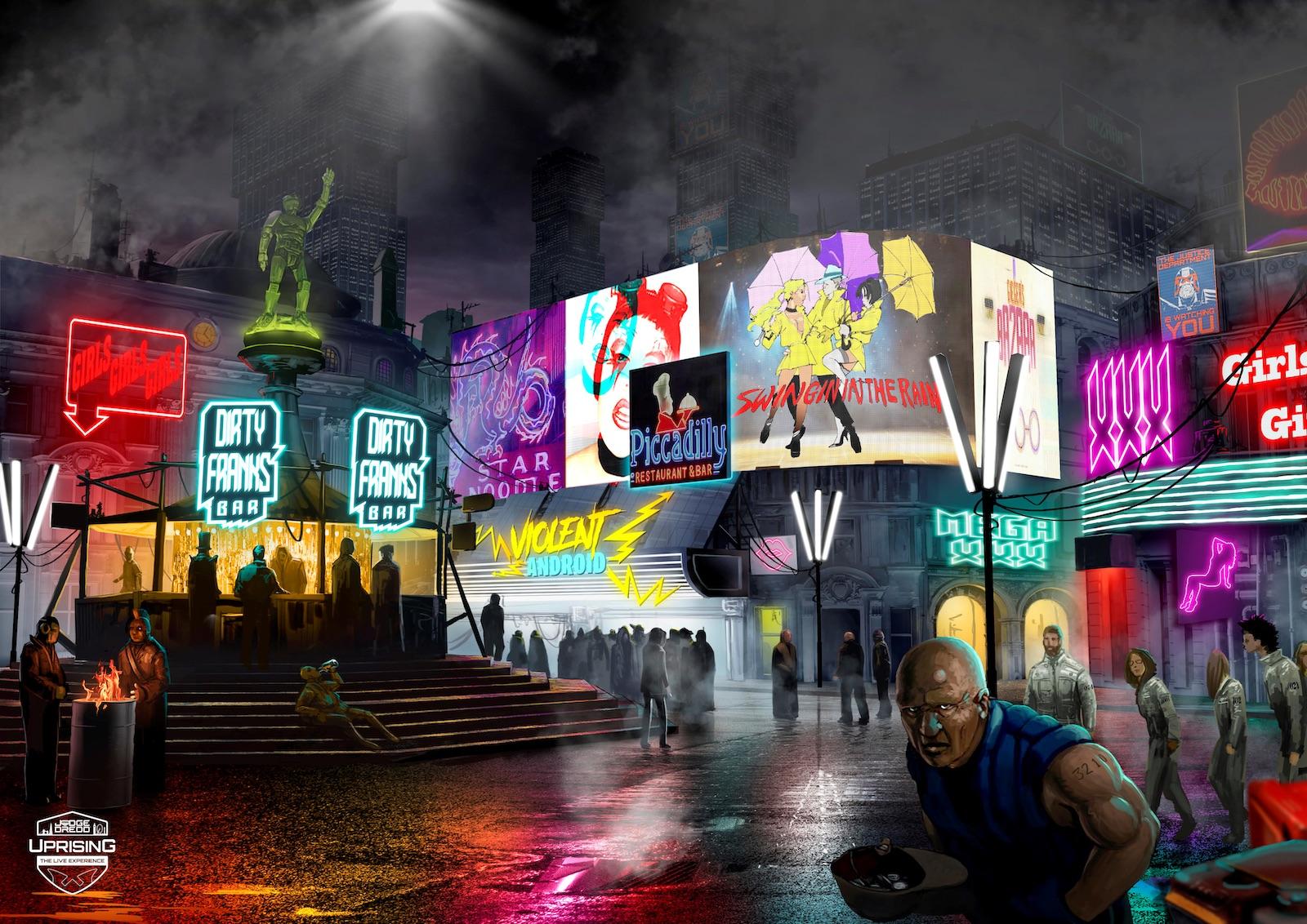 Judge Dredd Uprising Live Experience immersive experiences