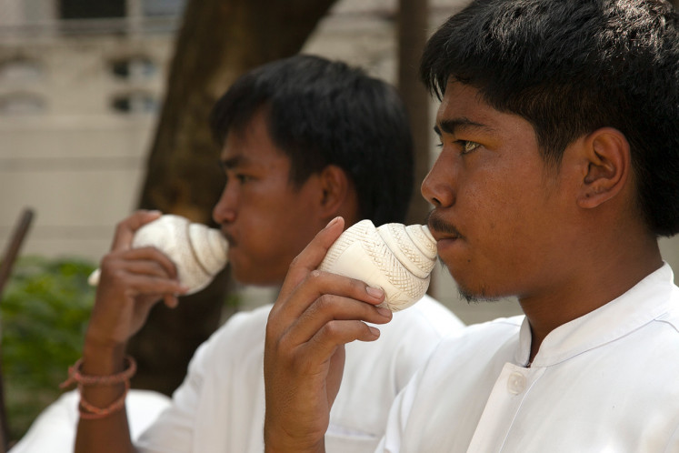 Ceremonious: Bangkok is a loud city of modern noise, but also a center of delicate aural culture, such as conch shell blowing in Brahmin rituals.
