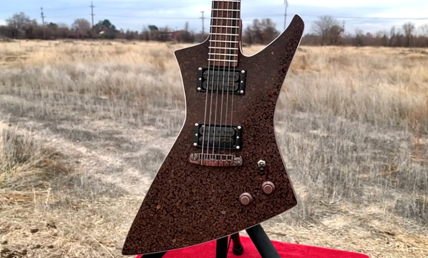 Wake up and smell the axe: check out this guitar made from coffee beans | Happy Mag