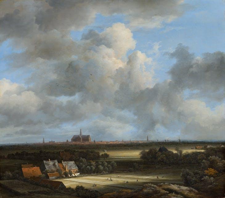 (View of Haarlem with Bleaching Grounds c. 1670–75), Jacob van Ruisdael.