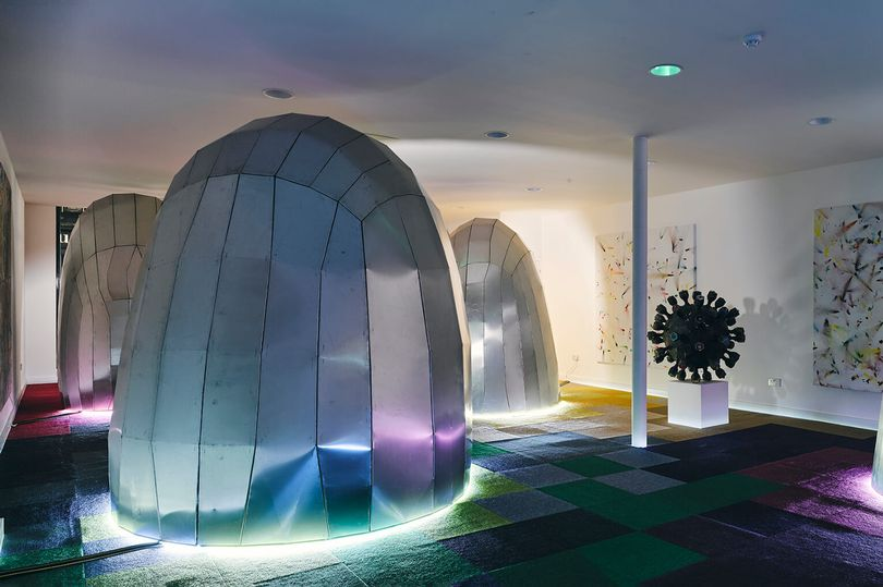 Multisensory spaceship-like dining pods | Manchester Evening News