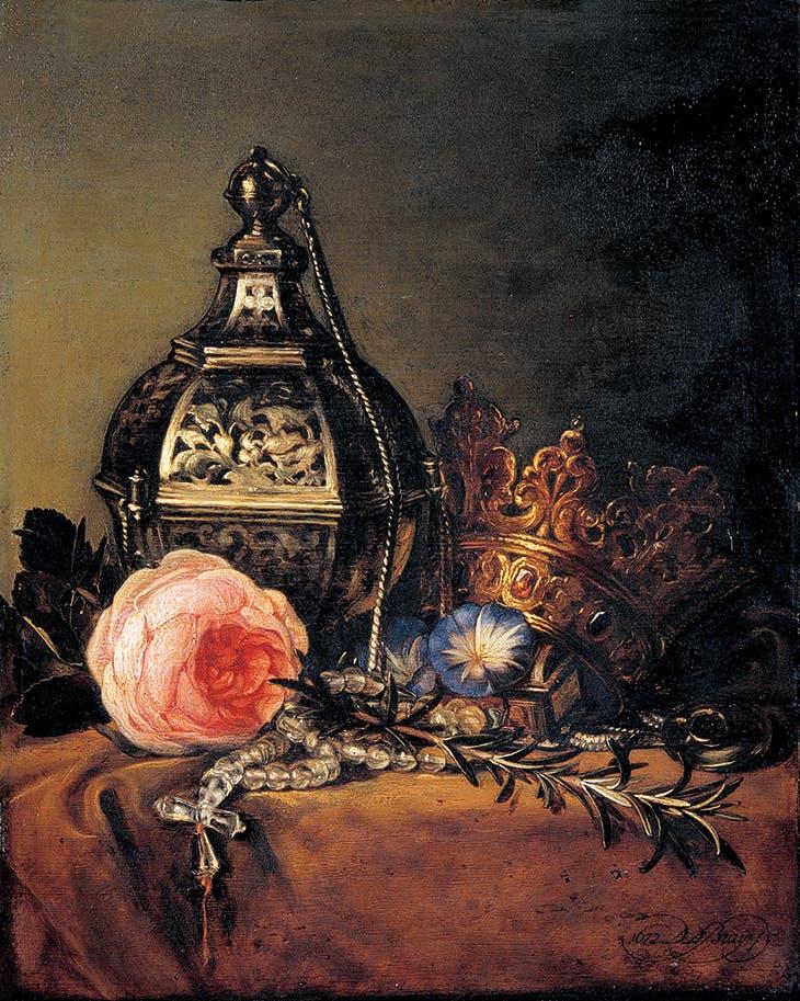 Still Life with Symbols of the Virgin Mary (1672), Dirck de Bray. Museum Ons' Lieve Heer op Solder, Amsterdam