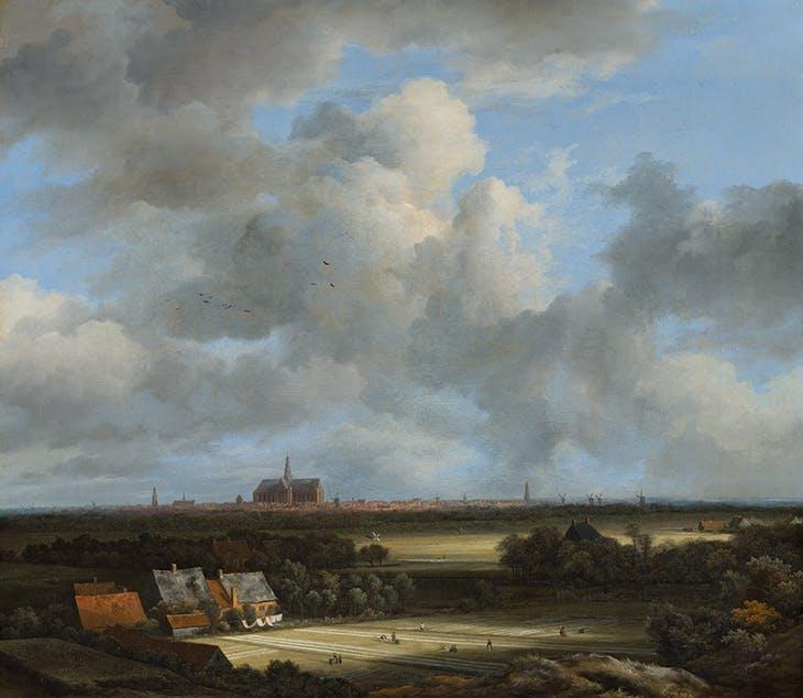 View of Haarlem with Bleaching Grounds (c. 1670–75), Jacob van Ruisdael. Mauritshuis, The Hague