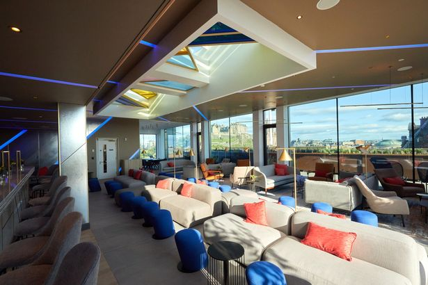 The Johnnie Walker Experience offers stunning views of the city and the castle