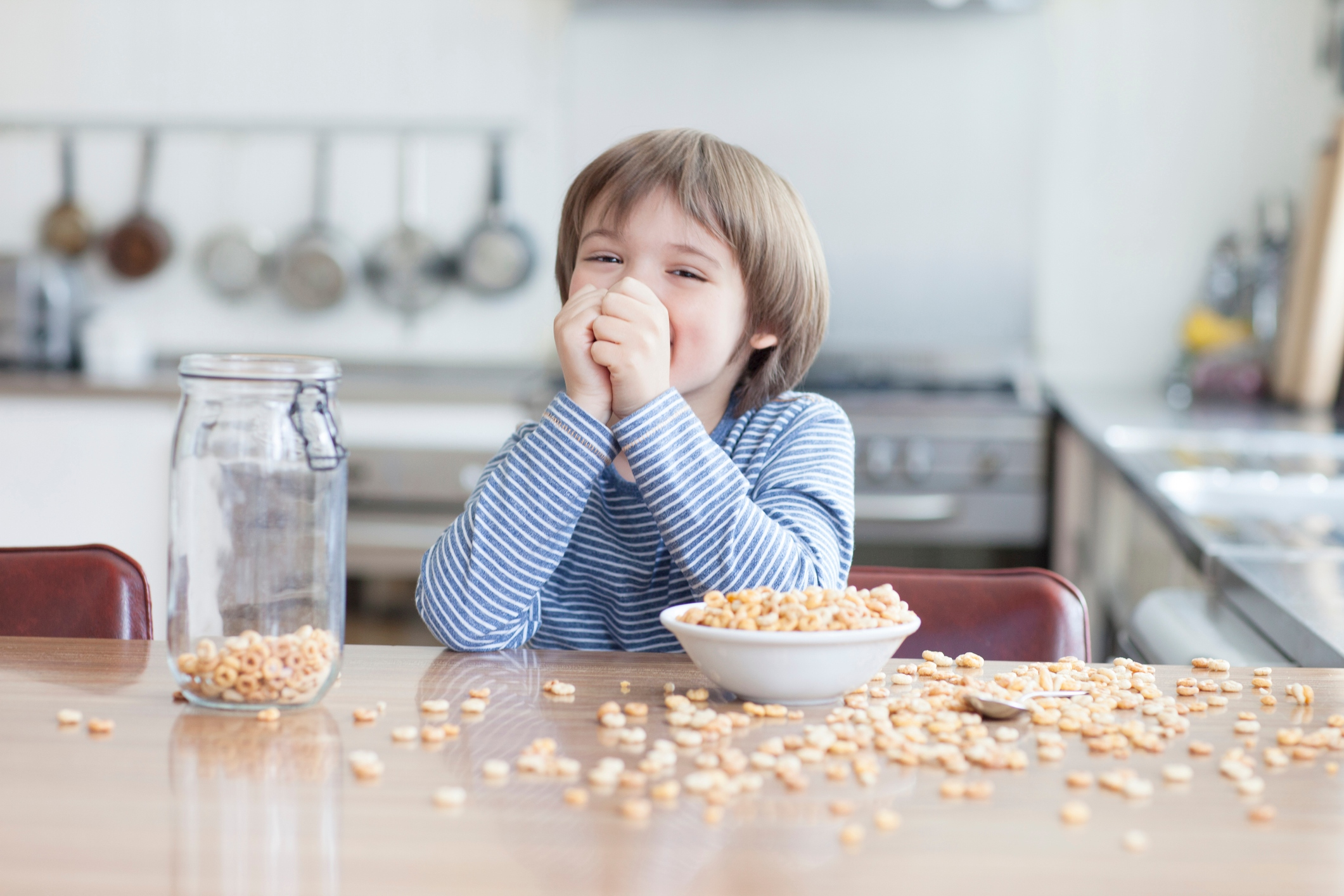 Studies show that little ones who engage and have fun with food using all their senses, are much more willing to try those foods