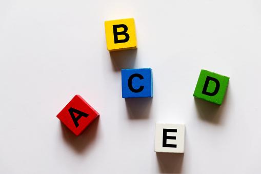 Wooden Blocks with Alphabet
